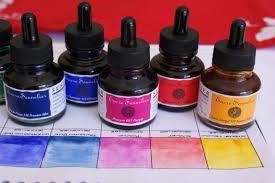 Sennelier Ink Color Chart My Latest Love In Art Materials Karen Bailey Studio
