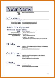 11 Resume Templates Printable Free Budget Reporting