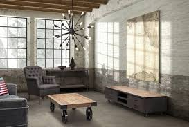15 Stunning Industrial Living Room Designs