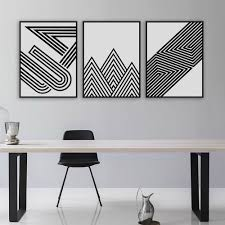 aeproduct getsubject  on framed 10 silver squares wall art with nordic black white minimalist geometric shape art prints poster