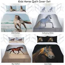 details about horse printed quilt doona duvet cover by just home single double