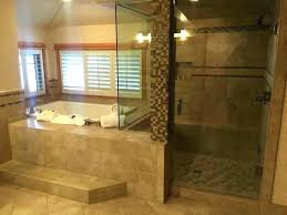 showers shower jacuzzi combo whirlpool then master long besides hot tub inn and steam had