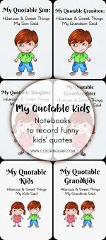 My Quotable Kids Notebooks To Record Kids Funny Quotes Coloring
