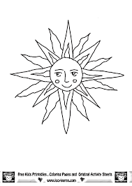 Sun Template Printable Sun Template For Kids Coloring Home