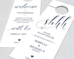 wedding door hanger template. Navy Blue Wedding Door Hanger, Hanger Printable, Template, Please Do Template