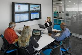 images of an office. Glass-enclosed Meeting Rooms Can Be Smaller, While Maintaining An Open Feel. Here Images Of Office O