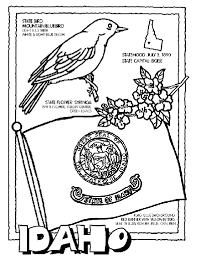 Small Picture Idaho State Symbol Coloring Page by Crayola Print or color online