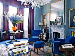 Cool Gorgeous blues and purples combine to make a statement - Jewel-tone  Interior Decorating
