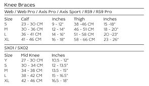 Evs Knee Brace Size Chart Evs Axis Sport Knee Brace Aluminium Black Pair
