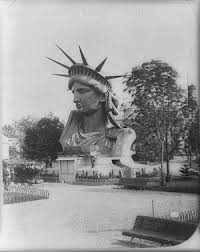 「1884, construction of the liberty statue begins」の画像検索結果