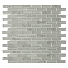 gbi tile stone inc gemstone white 12 in x 12 in glass mosaic subway tile common 12 in x 12 in actual 11 97 in x 11 97 in