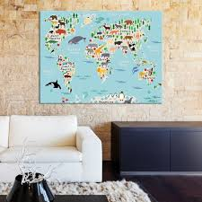 large wall art world map canvas print animal world map for kids world map for nursery mygreatcanvas extra large wall art wall art print  on extra large wall art teal with large wall art world map canvas print animal world map for kids