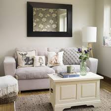 woodlandinspired living room with lilac sofa floral feature wall and cosy textures interior design traditional60 traditional