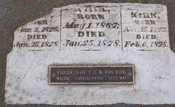 Maude Kirk (1876-1878) - Find A Grave Memorial