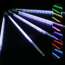 Colour Changing Tube Light Kit Of 5 Tubes Festisnow L10mxh50cm 70 Led Tube Synchronised Colour Change Transparent Cable
