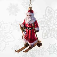 Weihnachtsmann Auf Skier