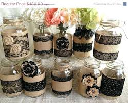 Decorating With Mason Jars And Burlap Mason Jars With Burlap bazaraurorita 100