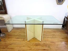 Incredible Cumaru Wood Dining Table Base Glass Ideas Nlaid Base And Wooden  Floor Attractive Dining Room Design With Glass Top Table Ideas Rectangle  Glass ...