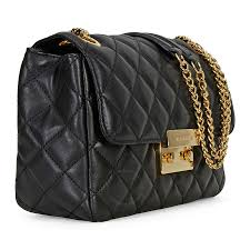 michael kors sloan large quilted leather shoulder bag black michael kors handbags handbags