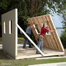 install siding then raise shed walls