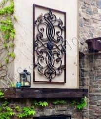 extra large outdoor metal wall art misterflyinghips com stirring 61 iron scroll neiman marcus oversize home design 0 450x527 beautiful