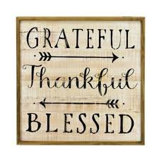 grateful 24 inch square wood wall art