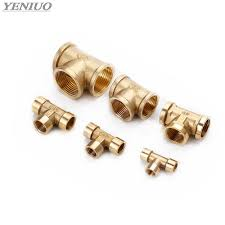<b>Tee Type Brass Pipe</b> Fitting Adapter Coupler Connector For Water ...