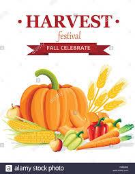 Harvest Festival Banner Fresh Vegetables Flat Style Design
