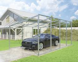 single slope shelter frame only 12 x 20 x 7 9