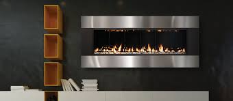 the sÓlas forty6 is a linear wall mount direct vent gas fireplace not