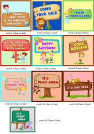 Cleanliness Chart For School Play School Class Room Decoration And Wall Decoration And