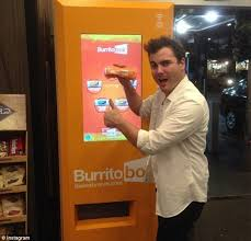 Burrito Vending Machine Gorgeous LA Opens Its First Ever Burrito Vending Machine Daily Mail Online