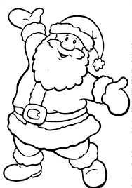 Small Picture Happy Santa Claus Christmas Coloring Pages noel Pinterest