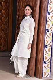 White Designer Outfits Kareena Kapoor Khan In Designer White Pant Suit Indian