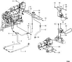 Mercruiser cummins mercruiser diesel 2 8l 200 170 power steering and shift bracket