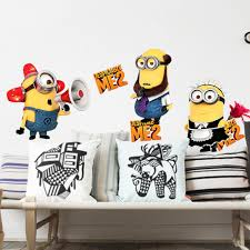 Minion Bedroom Decor Aliexpresscom Buy Despicable Me 2 Cartoon Wall Sticker Home