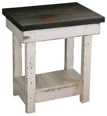 rustic end tables. Distressed Off White End Tables Sookie Table Rustic Side And