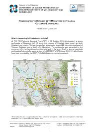 Magnitude 6.3 earthquake hits quezon city philippines, dec 24,2020. Primer On The 16 October 2019 Magnitude 6 3 Tulunan Cotabato Earthquake Philippines Reliefweb
