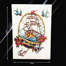 водонепроницаемый пиратский корабль ласточка татуировки стикеры для для мужчин