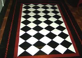 black and white checd kitchen rug