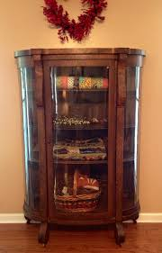 Quilt Display Cabinet: Antique China cabinet with wood shelves ...