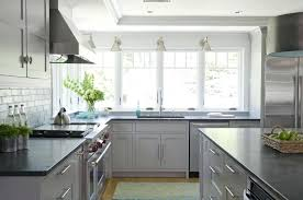 gray kitchen cabinets with black counter light grey kitchen cabinets with matte black granite counter kitchen