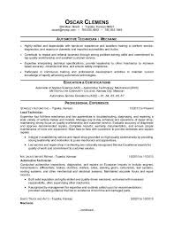 Mechanic Resume Cool Auto Mechanic Resume Sample Monster
