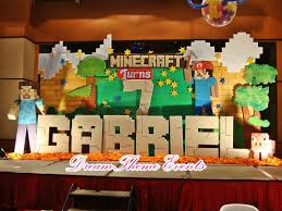 Minecraft Party Decorations Minecraft Centerpiece Table Centerpieces Pinterest