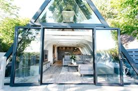 house made of glass whats it like to stay in a triangular house made of glass