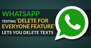 Image result for whatsapp new feature delete for everyone