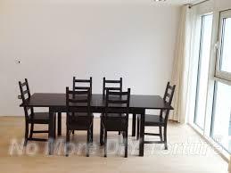 ikea bjursta extendable dining table in inspiring ideas 7 birch veneer design 17