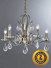 fl2299 5 willow 5 light chandelier with crystal drops bronze