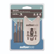 diamond bit. sutton tools 4 piece diamond core drill bit set with guide d6180004 a