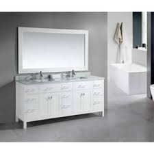 gray double sink vanity. design element london 78-inch double sink white vanity with carrera marble top gray